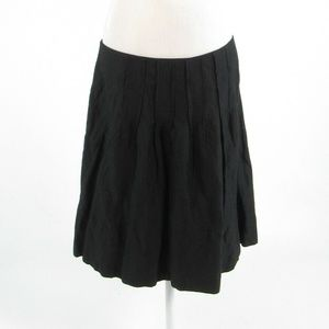 Black silver CABI shimmery A-line skirt size 12